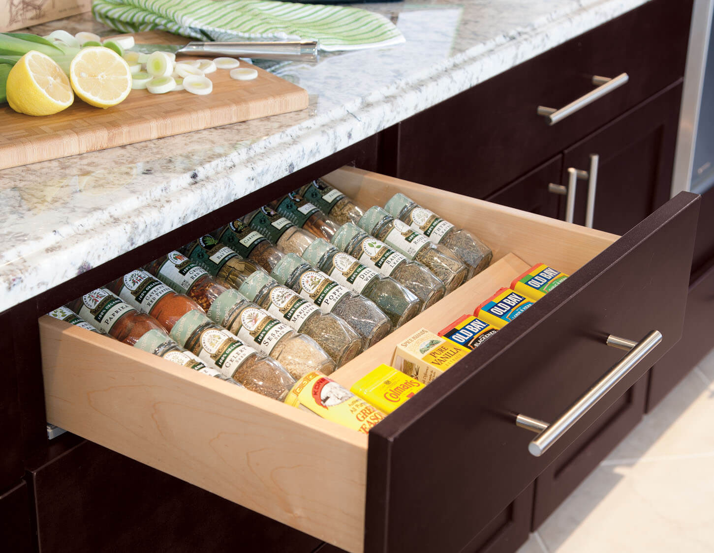 Kitchen drawer inserts for spices - Open To Life And Guests